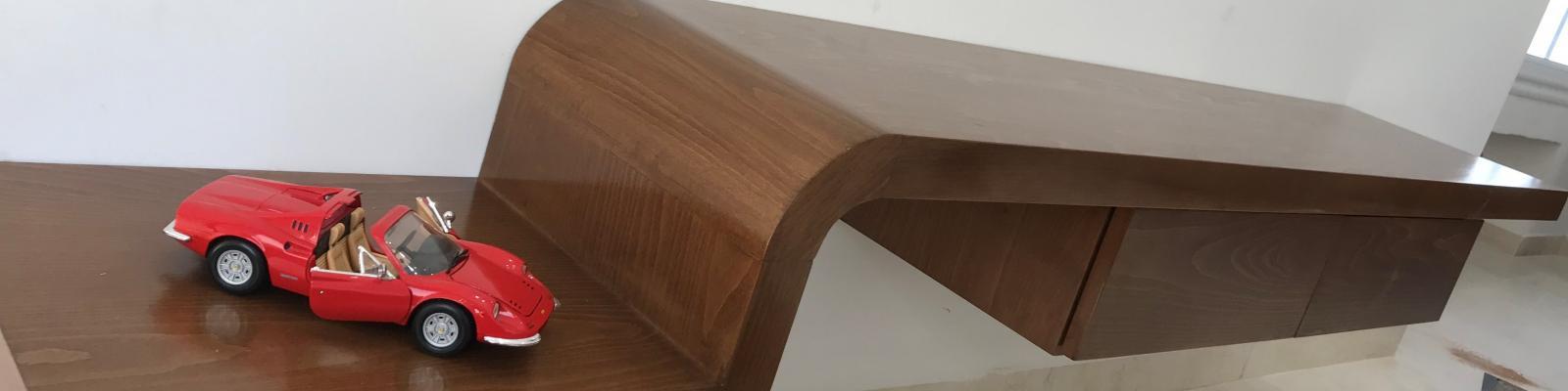 Table TV en Bois Massif Hêtre